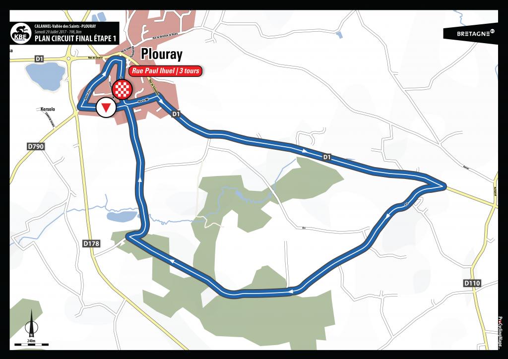 KBE2017 - Plan arrivée circuit final E1 - Plouray