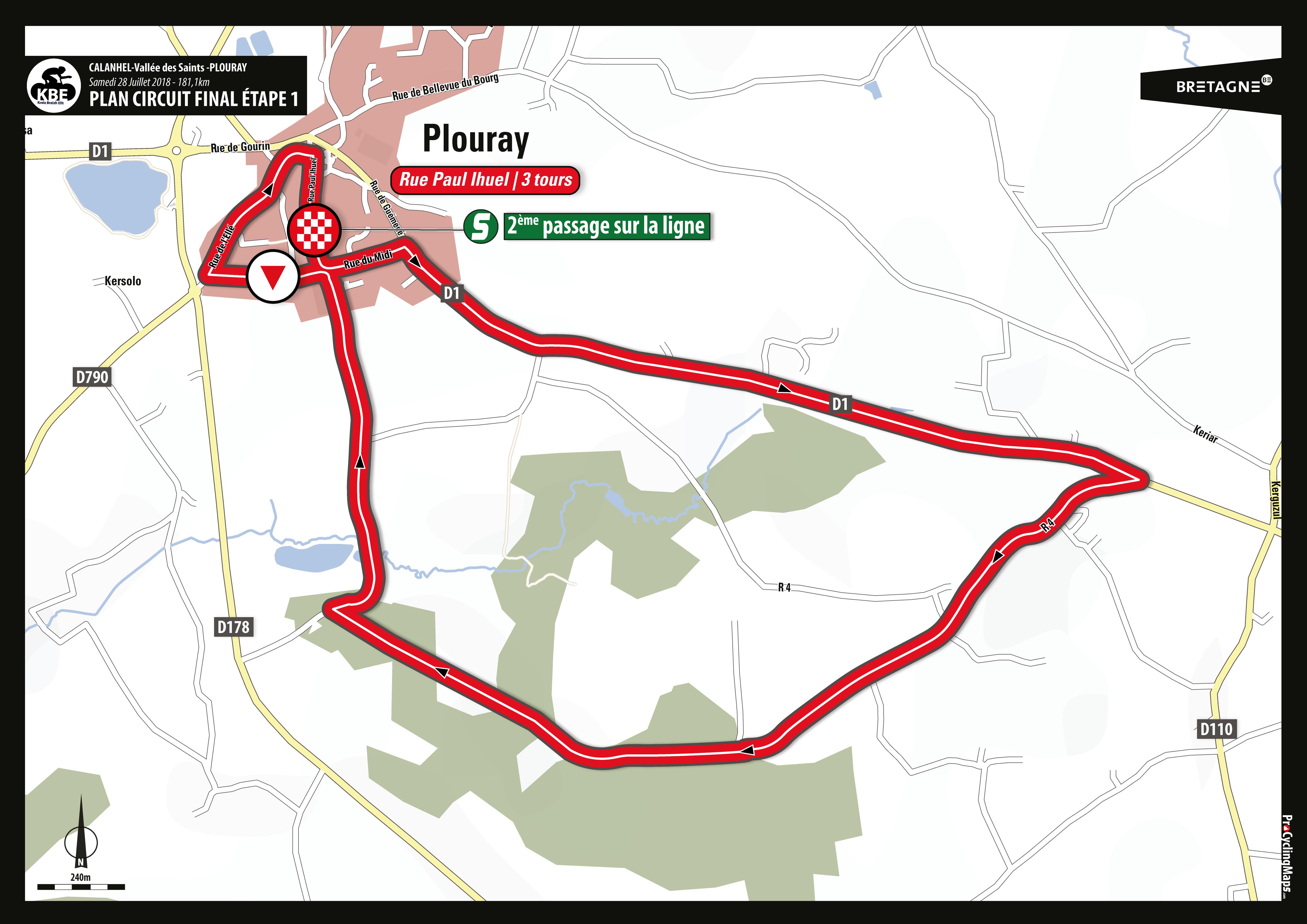 KBE2018 - Plan arrivée circuit final E1 - Plouray V1